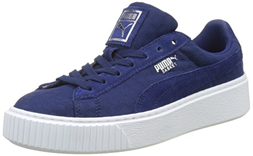 PUMA Basket Platform De, Zapatillas para Mujer, Azul (Blue Depths-Blue Depths), 38 EU