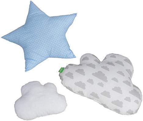 18 opinioni per Lulando- Cuscino decorativo con nuvole e stelle, 3 pezzi, per camera da letto,