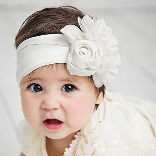 AMUSTER Baby Kinder Haarband Mädchen Stirnband Kopfband Blumen Blüte Haarschmuck Headband Hairband Babygeschenke Taufe Geschenksets