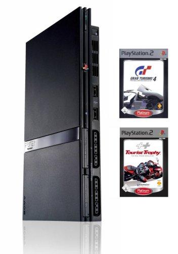PlayStation 2 - PS2 Konsole inkl. GT 4 Platinum + Tourist Trophy Platinum