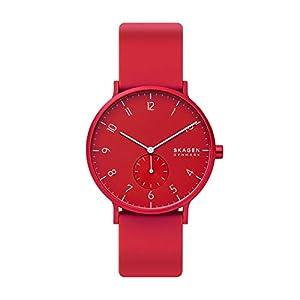 Skagen Aaren Colored Silicone Quartz Minimalistic 41mm Watch