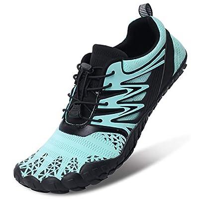 L-RUN Womens Beach Swim Shoes Quick-Dry Aqua Socks BlueWomen 6, Men 4.5 M US