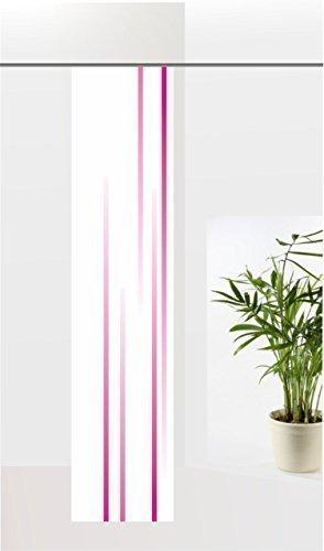 gardinen-for-life Flächenvorhang Linia Magenta, Schiebevorhang mit Druck-Motiv, Gr.60x260 cm Schlichtes Modernes Motiv