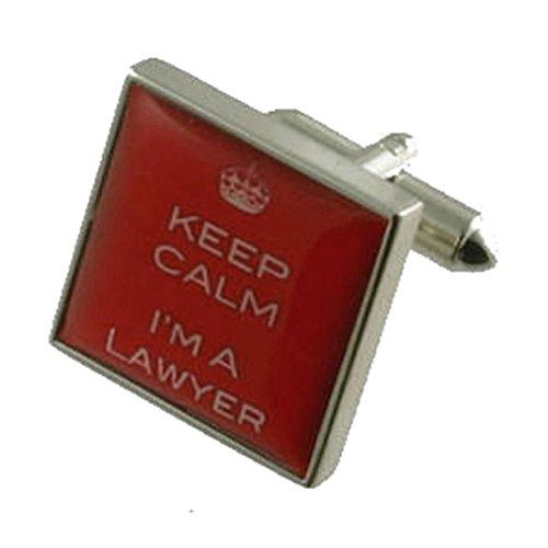Rouge Avocat Solliciteur Design lourde solide Argent sterling 925 Boutons de manchette + cadeau personnalisé Message Boîte à boutons de manchette