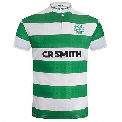 Celtic FC Official Gift Mens 1988 Centenary Home Retro Shirt Green Medium