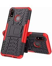 FanTing Etui do Honor X10 Max 5G, zdejmowana osłona przeciwwstrząsowa 2 w 1 [Odporność na upadki] [Wysoka odporność na uderzenia] [Wytrzymały] [TPU + PC] z funkcją stojaka etui ochronnym - czerwony