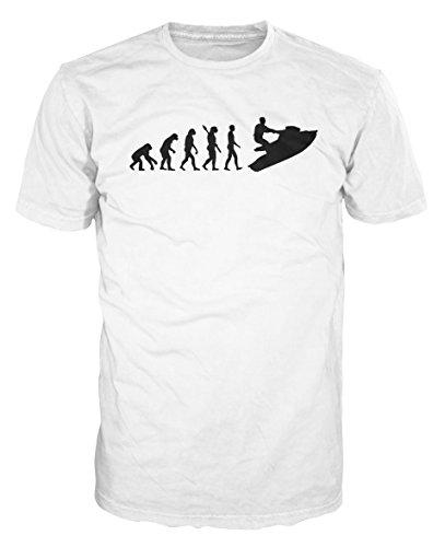 Jet Ski Evolution Funny T-shirt (XXL, White)