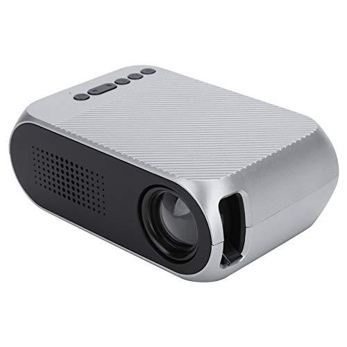 CCYLEZ Proyector portátil, Mini proyector de Video de 600 lúmenes y 1080P Full HD Compatible, Sistema de Cine en casa Compatible con AV/USB/Micro Tarjeta de Memoria/HDMI, parlantes(EU)