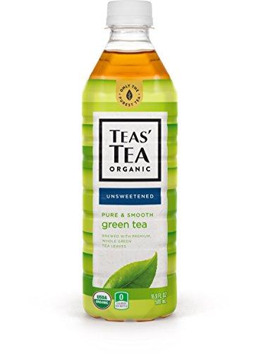 Teas' Tea Unsweetened Pure Green Tea 16.9 Ounce (Pack of 12) Organic Zero Calories No Sugars No Artificial Sweeteners Antioxidant Rich High in Vitamin C