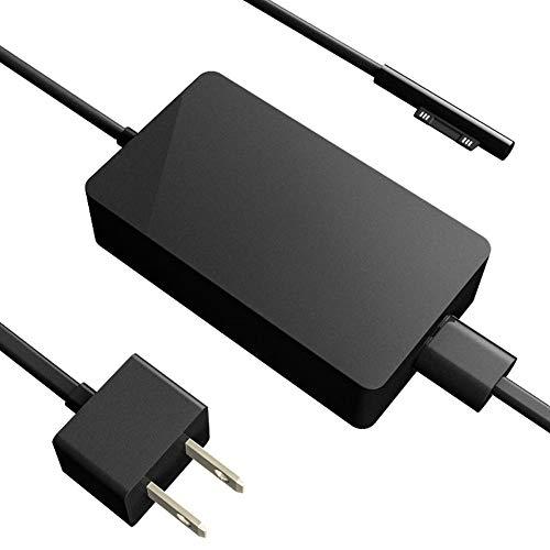Phomnd Adaptador de alimentação Compatible with laptop de alta eficiência Substituição do adaptador AC Compatible with Microsoft Surface Pro Adaptador de alimentação preto plugue americano 65W