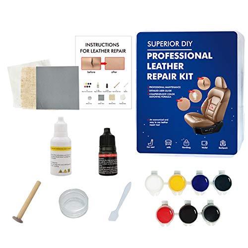 biteatey Juego de herramientas para reparación de cuero y vinilo, para el cuidado del coche, herramientas de limpieza