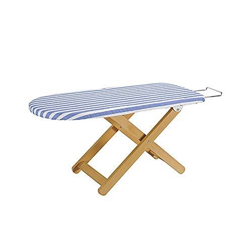 LOHOX Houten Strijkplank Stabiel Eenvoudig op te bergen Tafelblad, ideaal voor mensen met beperkte ruimte of voor gebruik als reisstrijkplank Afmetingen: 80 x 37 cm