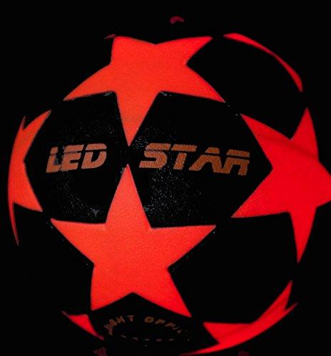 Leuchtfussball Night Kick LED Star Champion der Leuchtfussbälle- jetzt inkl.Ballpumpe und Ersatzbatterien