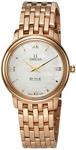 [オメガ] 腕時計 デビルプレステージ ホワイト/パール文字盤 424.50.27.60.05.002 レディース 並行輸入品 ピンクゴールド