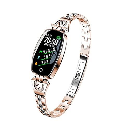 Smart Watch Band Tracker Watch H8 impermeable Pulsera inteligente reloj de pulsera inteligente Rate cardy Presión arterial Rastreador de fitness para mujeres Herramientas de oro gratis