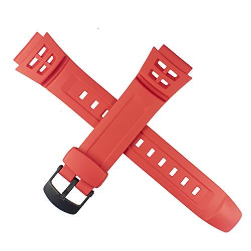 Correa de reloj Casio para AQ-S800W-4BV AQ S800W S800 800W rojo 10494966