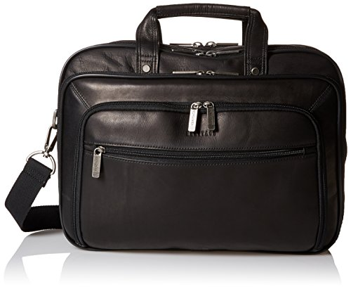 Heritage Travelware Colombian Leather Dual Compartment Top Zip 15.6