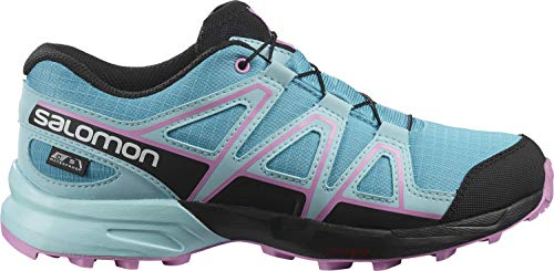 Salomon Kinder Speedcross, Trail Running Schuhe, ClimaSalomon Waterproof Hellblau (Scuba Blue/Tanager Turquoise/Orchid), 36 EU