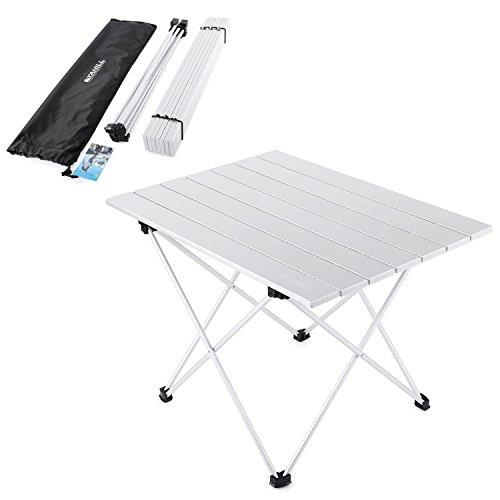 YAHILL® Campingtisch Alu Klapptisch Aluminium ideal Reisetisch Falttisch Gartentisch klappbar Tisch für Camping Outdoor Picknick BBQ Wandern Reise Angeln Urlaub in Tasche tragbar(Größe- L)