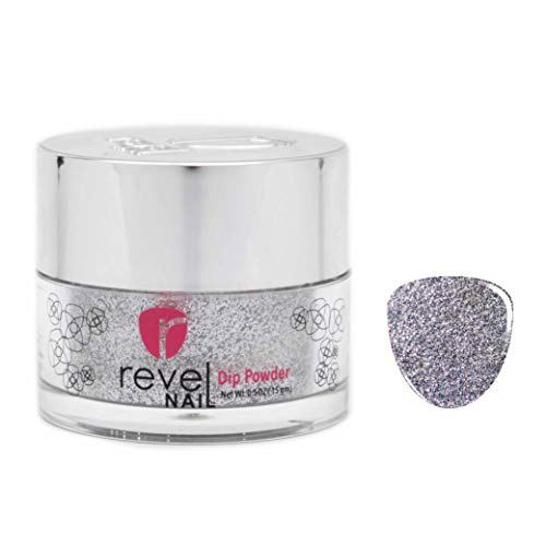 Revel Nail Dip Powder | for Manicures | Nail Polish Alternative | Non-Toxic & Odor-Free | Crack & Chip Resistant | Can Last Up to 8 Weeks | 0.5 oz Jar | Glitter (Phoebe, 0.5 oz)