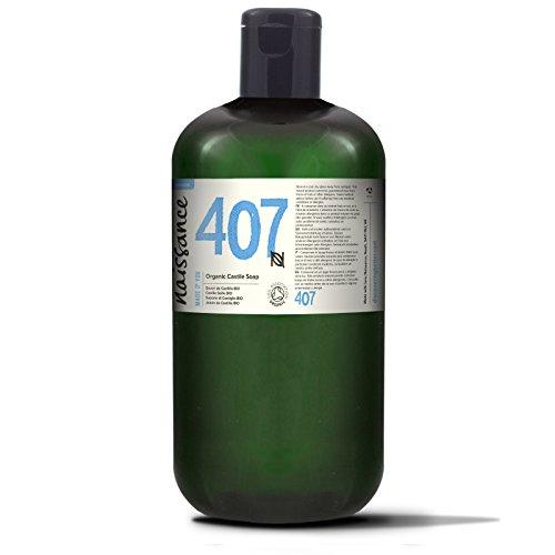 Naissance Natürliche BIO zertifizierte unparfümierte Castile Flüssigseife 1 Liter (1000ml) - vegan, frei von SLS und SLES