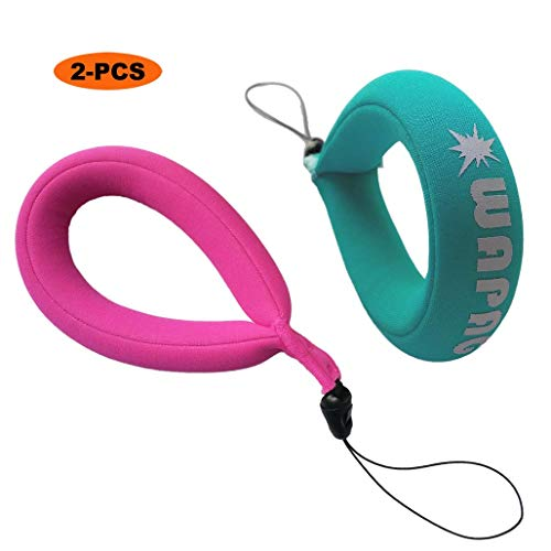 WAPAG Waterproof Camera Float Strap Universal Floating Wristband Buoyancy Belt for Camera/Waterproof Bag/Cell Phone (Turquoise Pink)