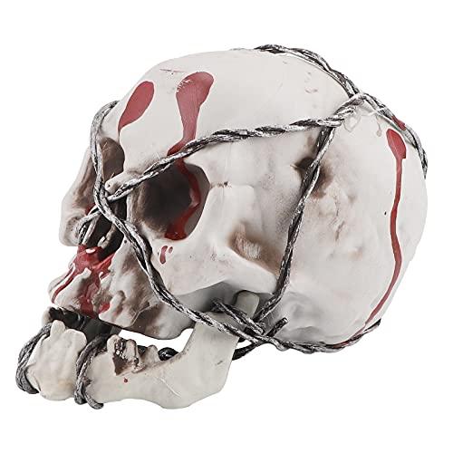 Modelo calavera,esqueleto brujería hueso cabeza humana resina realista Halloween,réplica calaveras mandíbula articuladas tamaño natural adultos Halloween,accesorio fiesta cabezas calavera decorativas