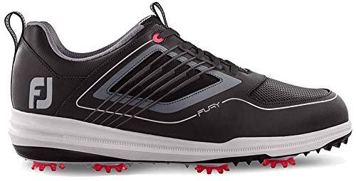 Footjoy Fury, Chaussures de Golf Homme, Noir (Negro/Rojo...