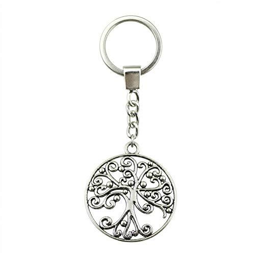 HXYKLM Baum des Lebens Keychain Baum des Lebens Keychain Baum-hängende Schlüsselring-Geschenke für Frauen