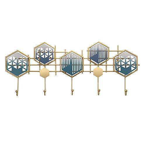 Gymqian Ropa Creativa de Pared Percha, Ganchos de la Capa Resistente para Pared, Montado en la Pared Estante de la Capa de Entrada, Cocina, Baño, Sala de Estar, Dormitorio habitación