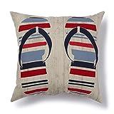 Brentwood Originals 35510 Indoor/Outdoor Pillow, 17x17, Flip Flop Multi