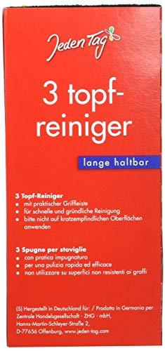 Jeden Tag Topfreiniger, 1er Pack (1 x 3 Stück), 300 g