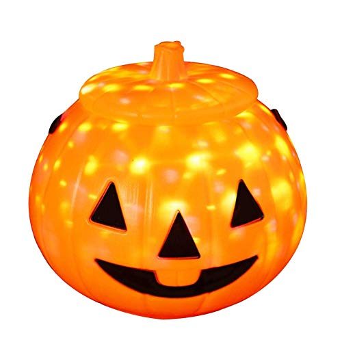 LIUCHANG Halloween-Kürbis-Laterne-LED-Licht, Handheld leuchtender Kürbis Light Candy Eimer for Kinder, mit hängenden Ring for Kinder Kinder Geschenk, Home Party Aktivitäten Dekoration liuchang20