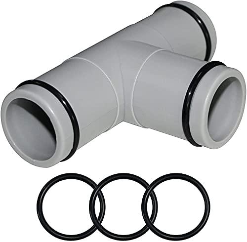 Taixinpower T-Connertor 32 mm Durchmesser Schlauchteile Rohrzubehör T-Stück Wasserrohr Verbindungsstück PP-Material für oberirdische aufblasbare Schwimmbecken Ersatzschlauch Anschluss Verwendung