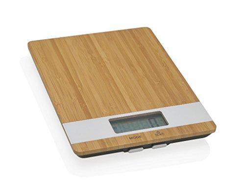 Andrea CC65004 keukenweegschaal, bamboe/vel Dig. 5 kg.