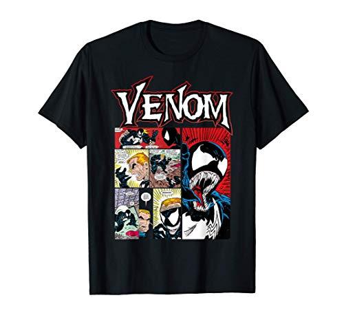 Marvel Venom Classic Retro Comic Panel Art Intro Camiseta