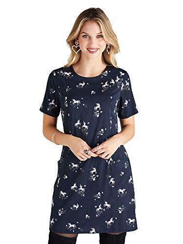 YUMI Vrouwen Jurk Unicorn Print Shirt Tunic