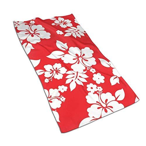 XCNGG Toallas de Mano de Flores Hawaianas Rojas 27.5 'X15.7' 'Toalla Facial Multiusos Ultra Suave y Altamente Absorbente para baño, Hotel, Gimnasio, SPA, Yoga, Cocina, decoración del hogar