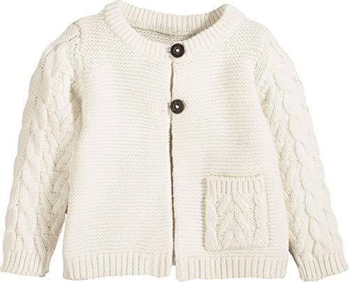 lupilu® Baby Mädchen Strickjacke aus 100% Bio-Baumwolle (Offwhite, Gr. 74/80)