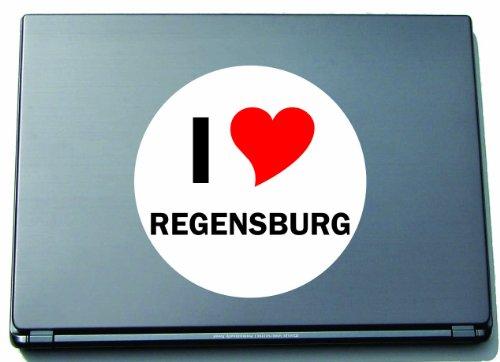 Indigos I Love Aufkleber Decal Sticker Laptopaufkleber Laptopskin 210 mm mit Stadtname Regensburg