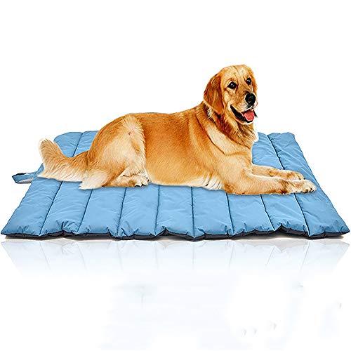 ZISITA Cama para mascotas para perros y gatos, manta para cama interior y exterior, muebles perfectos, suelo, asiento de coche, césped, sofá (L, azul)