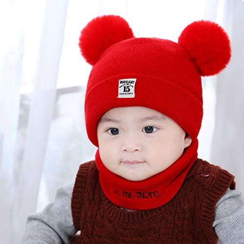 Xme Sombrero de otoño e Invierno para niños, Gorro de Lana para bebé, Gorro cálido para bebé