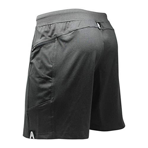 Anthem Athletics zHyperflex 7' Workout Training Gym Shorts - Volcanic Black - Small