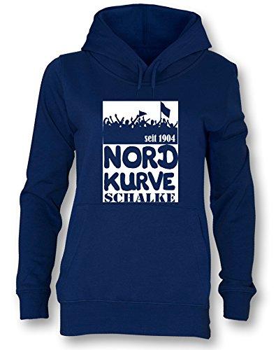 Angry Shirts Nordkurve Schalke - Damen Hoodie in Größe S