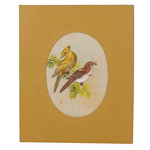 Indien étagère Papier Fait Main agréable Tissu Oiseaux d'eau Couleur Peinture Pt-112