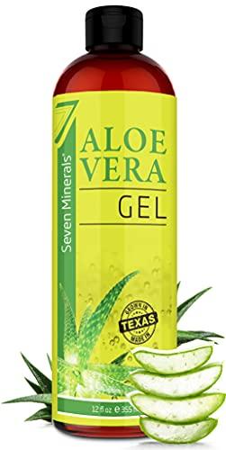 Gel d'Aloe Vera Bio avec Aloe 100% Pur et Frais - Sans ACRYLATES OU POLYMÈRES CROISÉS, donc il s'absorbe rapidement sans résidu collant - Large 355 ml/12 fl oz