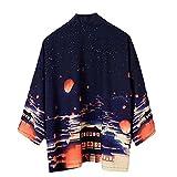 Allwiner Kimono Hombres japoneses de la Rebeca de la Camisa Blusa Hombres Yukata Haori Ropa OBI Samurai Chaqueta de Punto Prendas de Vestir Kimono Masculino, Verano campping