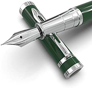 Wordsworth & Black Fountain Pens Set-[Racing Green]-Medium Nib–Journaling and Calligraphy-Smooth Writing Pen- 6 Free Ink Cartridges & Ink Refill Converter-Luxury Gift Case-Perfect for Men & Women