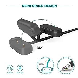 TUSITA [2-Pack] Charger Compatible with Amazfit GTR 2, GTR 2e, GTR 2 eSIM, GTS 2 Mini, GTS 2e, BIP U Pro, Pop Pro, Zepp E, Zepp Z,T-Rex Pro - USB Charging Cable 3.3ft /100cm - Smartwatch Accessories