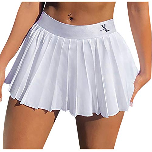yayay Falda sexy de moda para mujer, delgada y sexy, con cremallera lateral, falda plisada